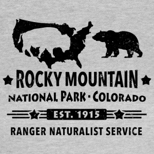 Bison Grizzly Rocky Mountain National Park Bergen - Vrouwen T-shirt