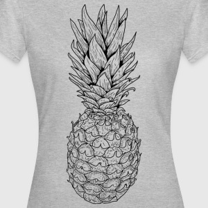 ananas sort - Dame-T-shirt