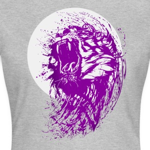 tiger violett wild cool fun löwe angriff biss cat - Frauen T-Shirt