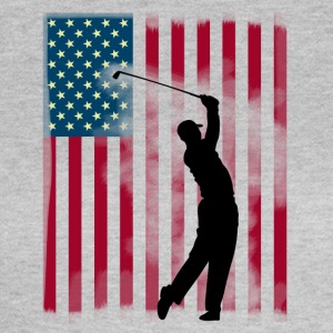 golf golfer buskas USA Team America flagg spor - T-skjorte for kvinner