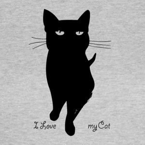 i_love_my_cat - T-shirt dam