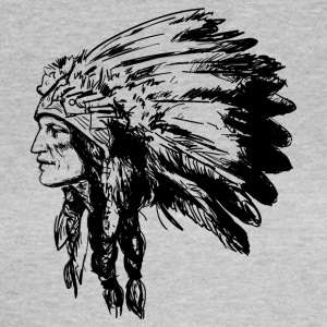Indian ansikte American Illustration - T-shirt dam