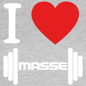 I LOVE Masse WHITE - Frauen T-Shirt