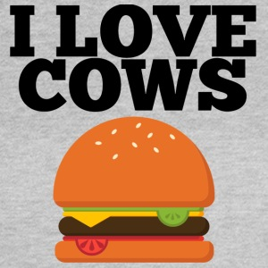 Cow / gård: I Love Køer - Dame-T-shirt