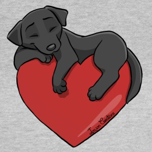 Labrador Black Heart - Frauen T-Shirt