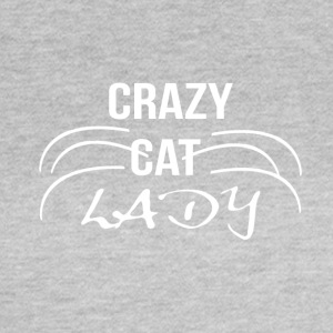 crazy cat lady1 blanc - T-shirt Femme