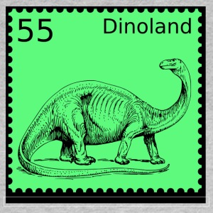 Dinoland Briefmarke - Frauen T-Shirt
