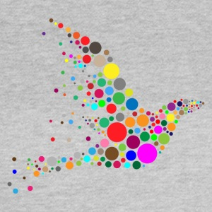 Circle Shape Bird - T-shirt dam