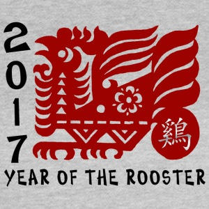 2017 Year of The Rooster Papercut - T-skjorte for kvinner