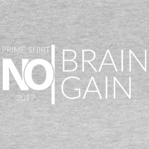 No Brain, No Gain - 2017 Collection - Bianco - Maglietta da donna