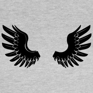 Sorte AngelWings - Dame-T-shirt