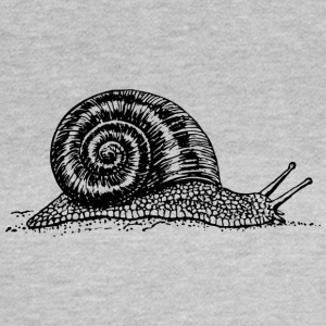 Black and withe snail - Women's T-Shirt