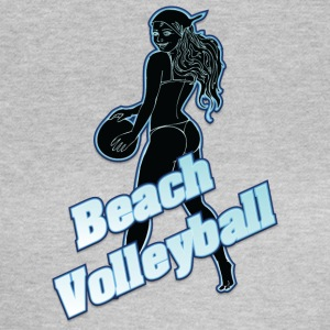 beachvolley sort - Dame-T-shirt