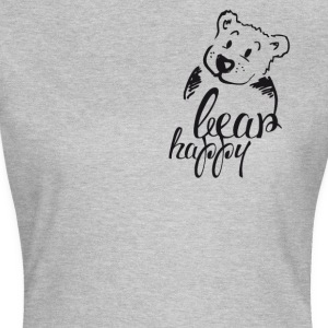 Teddybär Illustration niedlich happy cool Freund 1 - Frauen T-Shirt