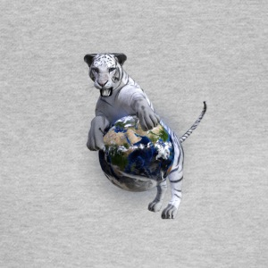 White tiger at world - Women's T-Shirt