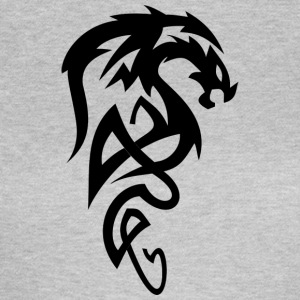 Evil Tribal dragon / dragon head for Drage fans - Dame-T-shirt