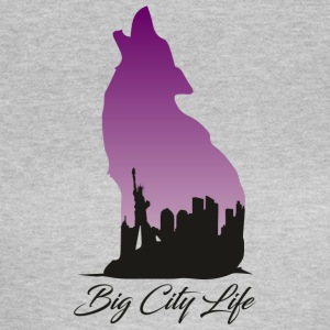 Wolf im New York Design - Big City Life - Frauen T-Shirt