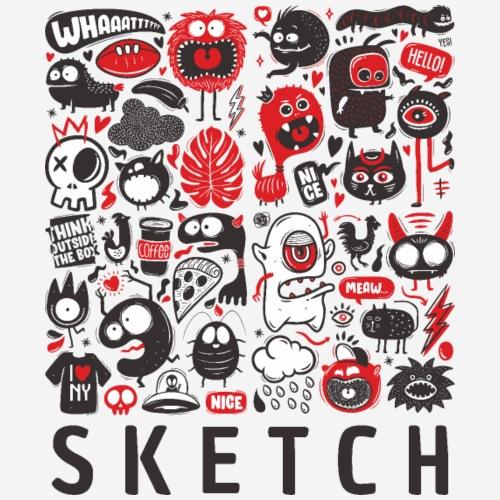 animals sketch design monsters - Frauen T-Shirt