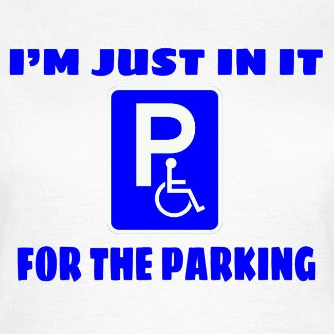 Ik zit in mijn rolstoel voor goede parkeer plekken