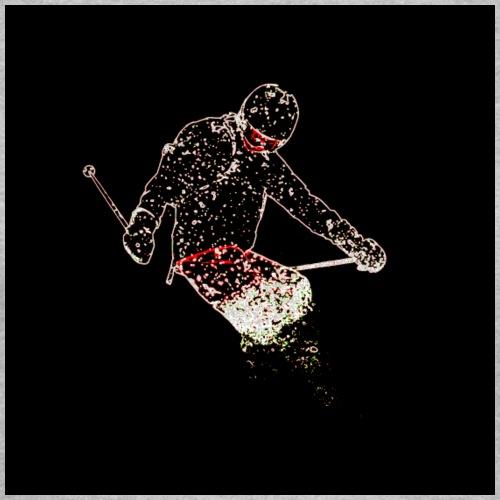 Skier Black - Vrouwen T-shirt