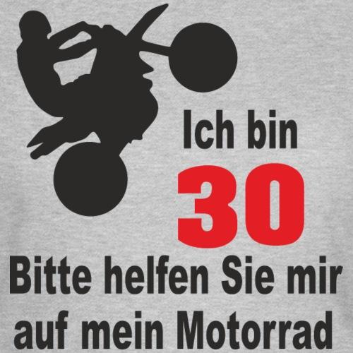 30 Geburtstag Frau T Shirt Bikerin Motorrad witzig - Frauen T-Shirt
