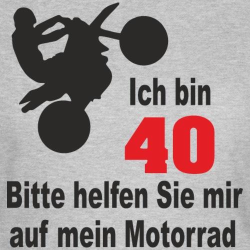 40 Geburtstag Frau T Shirt Bikerin Motorrad witzig - Frauen T-Shirt