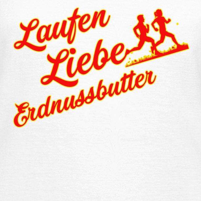 Laufen Liebe Erdnussbutter - Plakativ!
