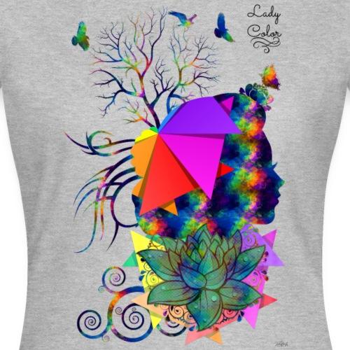 Lady color -by- T-shirt chic et choc - T-shirt Femme