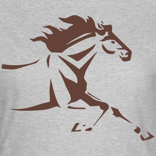 Tribal Horse running by JaanasArtwork - Women's T-Shirt
