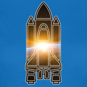 Space Shuttle - Earth - Space - Dame-T-shirt