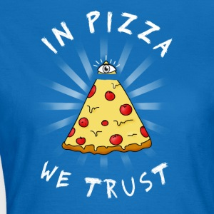 Pizza Alle Seeing Eye Illuminati FunnyFood øje ma - Dame-T-shirt