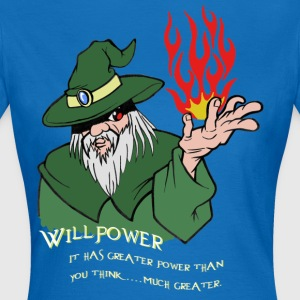 Willpower Wizard Green / Red Flame - Women's T-Shirt