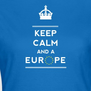 keep calm and Love Europa eu Europastar moro demo - T-skjorte for kvinner