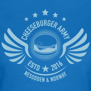 The official Cheeseburger Army logo - T-skjorte for kvinner