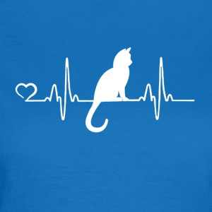 Cat - heartbeat - Vrouwen T-shirt