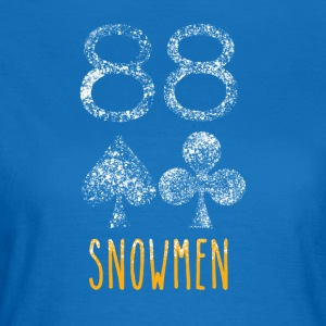 Poker Snowmen - Women's T-Shirt