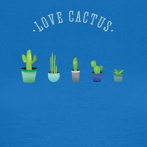Cactus plant lover green prickly beard Love - Women's T-Shirt