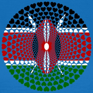 KENYEN KENYA LOVE HEART Mandala - Women's T-Shirt