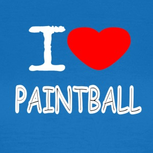 I LOVE PAINTBALL - Dame-T-shirt