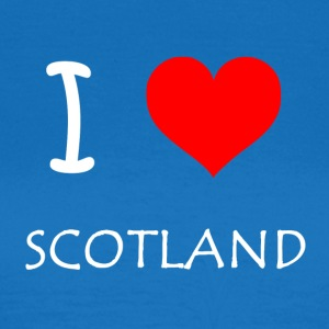 I Love SCOTLAND - T-skjorte for kvinner