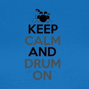 Keep Calm and Drum On - Drummer Passion - Dame-T-shirt