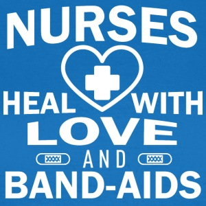 Nurses heal with love and plasters. - Women's T-Shirt