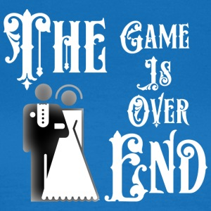 Just Married The End Game Is Over - Maglietta da donna