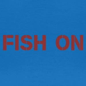 fish on writing dark red - Women's T-Shirt