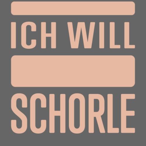 Ich will Schorle rosa - Frauen T-Shirt