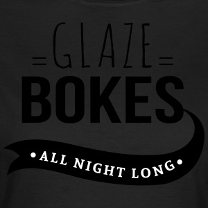 Bokes glasur, All night long - T-skjorte for kvinner