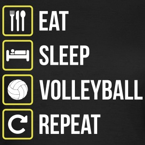 Eat Sleep Volleyball Gentag - Dame-T-shirt