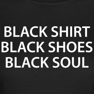 Sort Shirt Sko Soul Black Soul - Dame-T-shirt