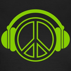 Peace - headphones - music - Women's T-Shirt