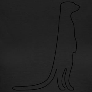 Meerkat outline - Women's T-Shirt